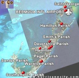 Map radar bermuda weather