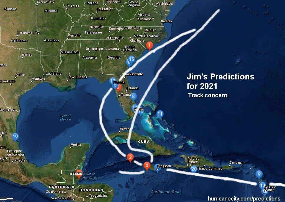 Prediction track map
