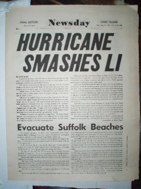 Long Island ,New York hurricanes