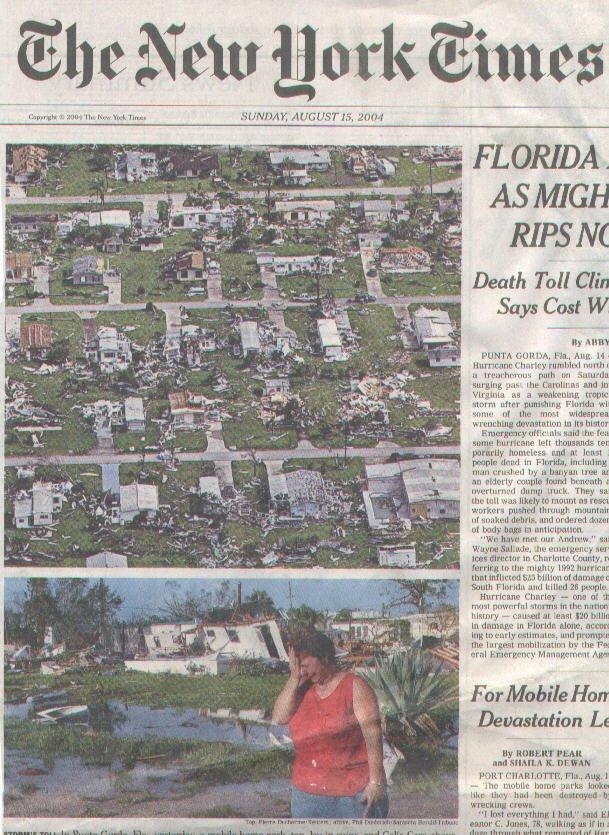 Port Charlotte Fl News >> Port Charlotte Florida S Hurricane History Includes Punta