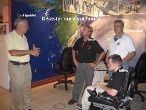 jim williams at hurricane survival house