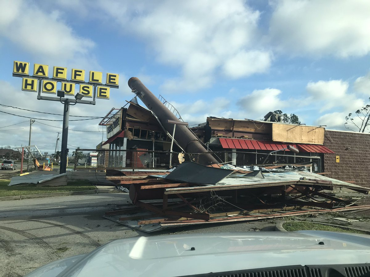 Waffle house destroyed in Michael